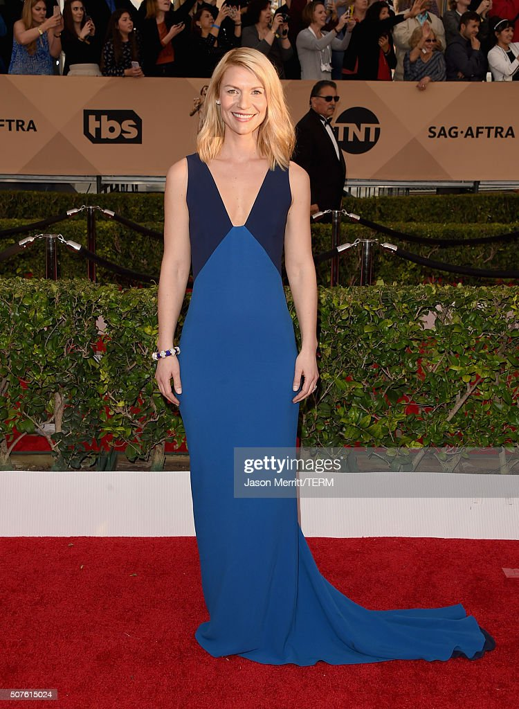 Actress Claire Danes attends The 22nd Annual Screen Actors Guild Awards at The Shrine Auditorium on January 30 2016 in Los Angeles California...