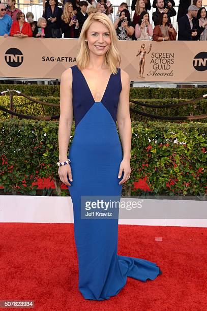 Actress Claire Danes attends the 22nd Annual Screen Actors Guild Awards at The Shrine Auditorium on January 30 2016 in Los Angeles California