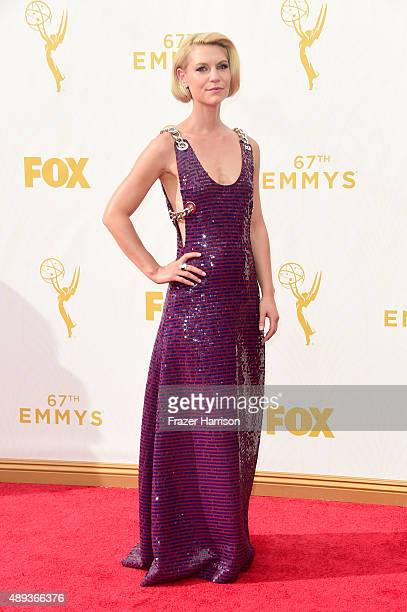 Actress Claire Danes attends the 67th Annual Primetime Emmy Awards at Microsoft Theater on September 20 2015 in Los Angeles California