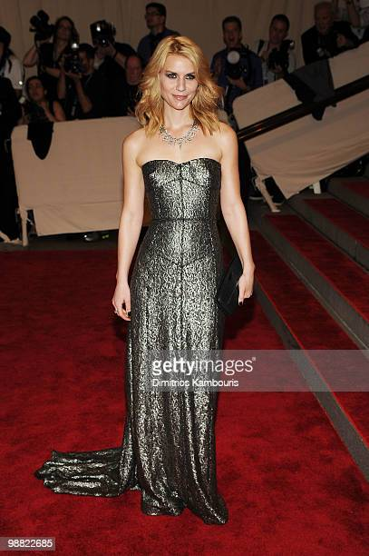 Actress Claire Danes attends the Costume Institute Gala Benefit to celebrate the opening of the 'American Woman Fashioning a National Identity'...