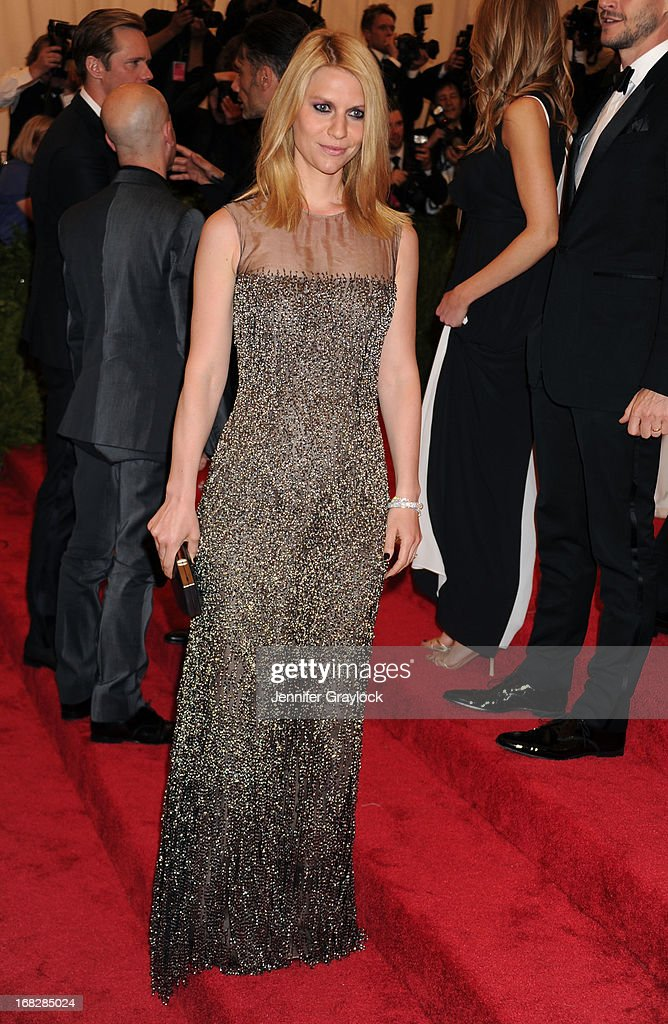 Actress Claire Danes attends the Costume Institute Gala for the 'PUNK: Chaos to Couture' exhibition at the Metropolitan Museum of Art on May 6, 2013 in New York City.