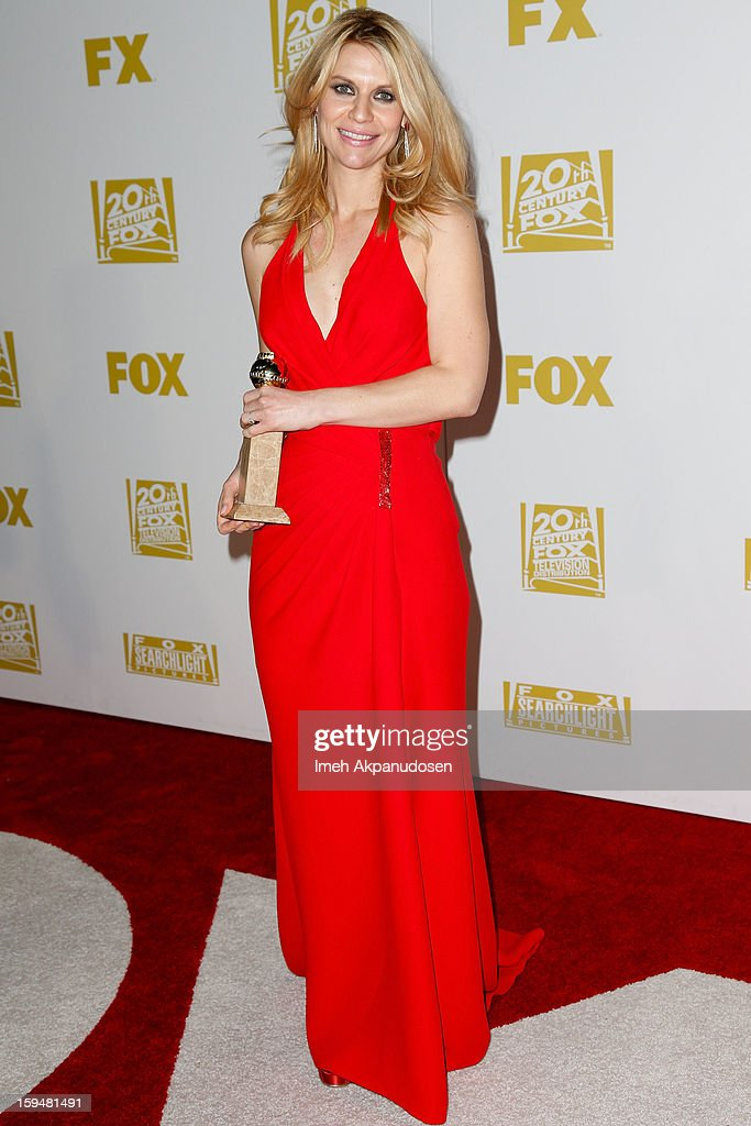 Actress Claire Danes attends the Fox Searchlight 2013 Golden Globe Awards Party on January 13, 2013 in Beverly Hills, California.
