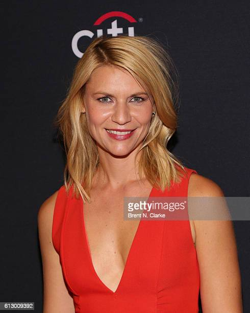 Actress Claire Danes attends the 'Homeland' panel discussion and screening during PaleyFest New York 2016 held at The Paley Center for Media on...