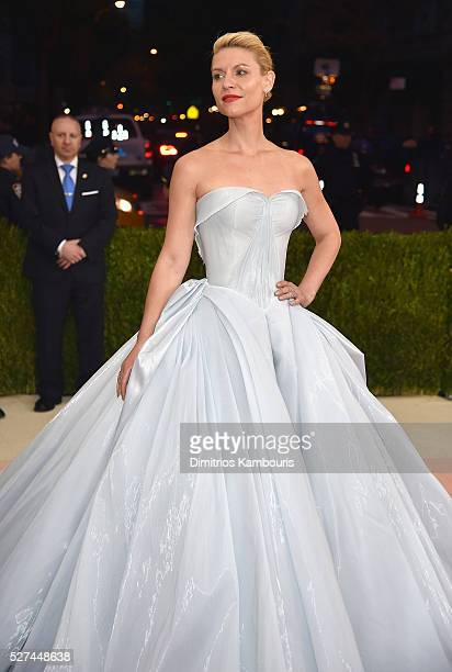 Actress Claire Danes attends the 'Manus x Machina Fashion In An Age Of Technology' Costume Institute Gala at Metropolitan Museum of Art on May 2 2016...