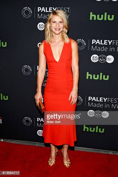 Actress Claire Danes attends the PaleyFest Made in New York Opening Night HOMELAND event on October 6 2016 in New York City
