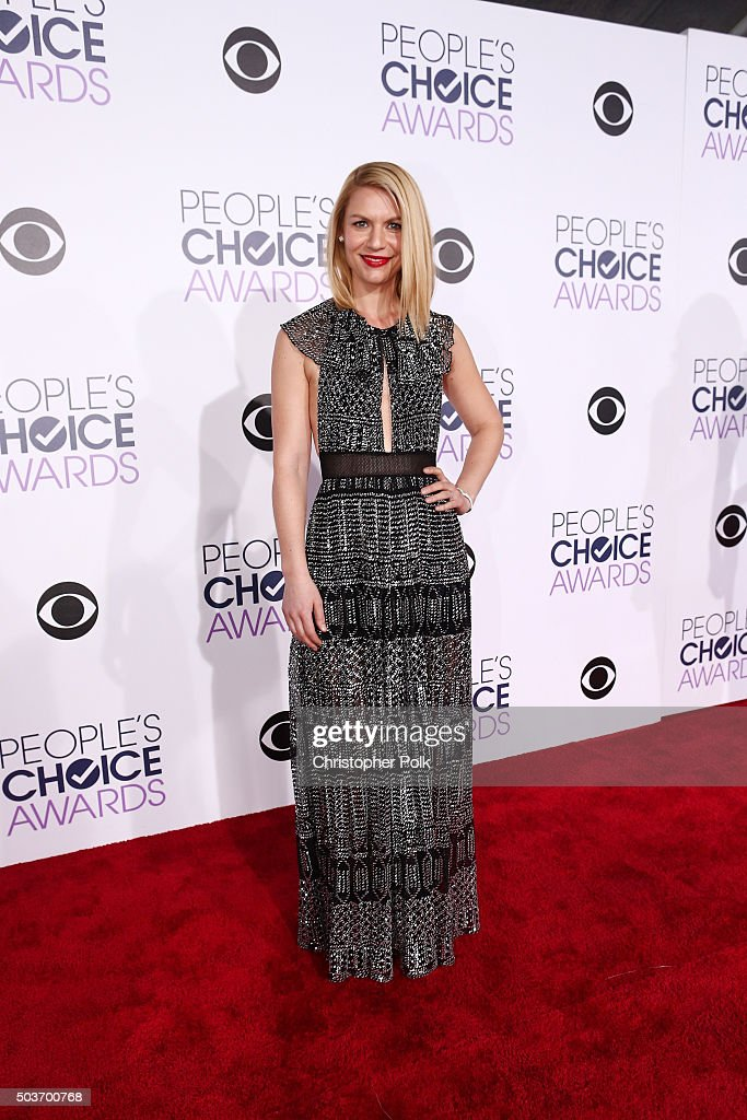 Actress Claire Danes attends the People's Choice Awards 2016 at Microsoft Theater on January 6 2016 in Los Angeles California