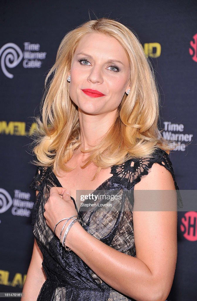 Actress Claire Danes attends the Showtime and Time Warner Cable hosted premiere screening and reception to launch the second season of 'Homeland' at...