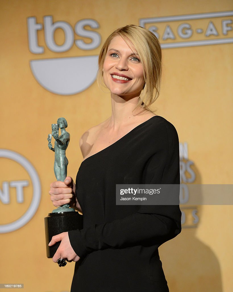 Actress Claire Danes attends the19th Annual Screen Actors Guild Awards Press Room at The Shrine Auditorium on January 27, 2013 in Los Angeles, California.