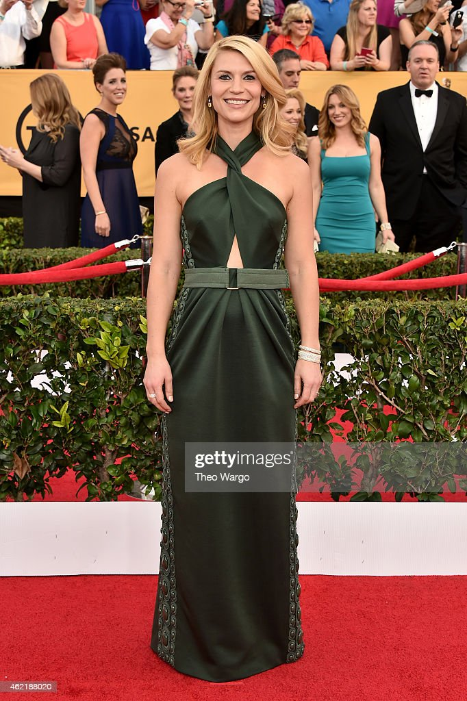 Actress Claire Danes attends TNT's 21st Annual Screen Actors Guild Awards at The Shrine Auditorium on January 25 2015 in Los Angeles California...