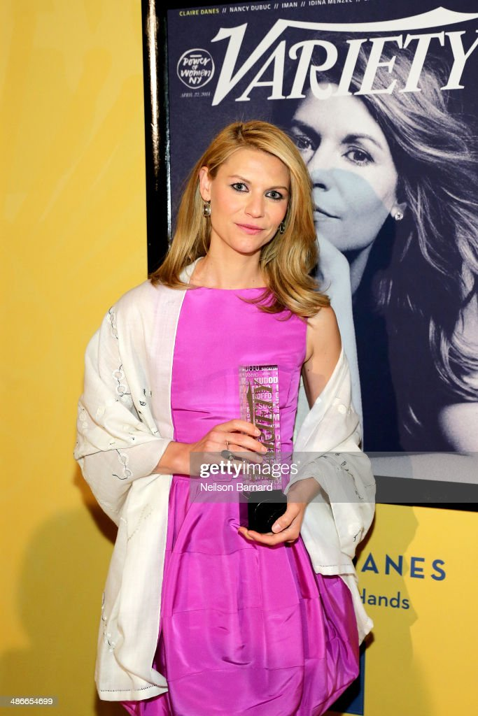 Actress Claire Danes attends Variety Power Of Women New York presented by FYI at Cipriani 42nd Street on April 25 2014 in New York City
