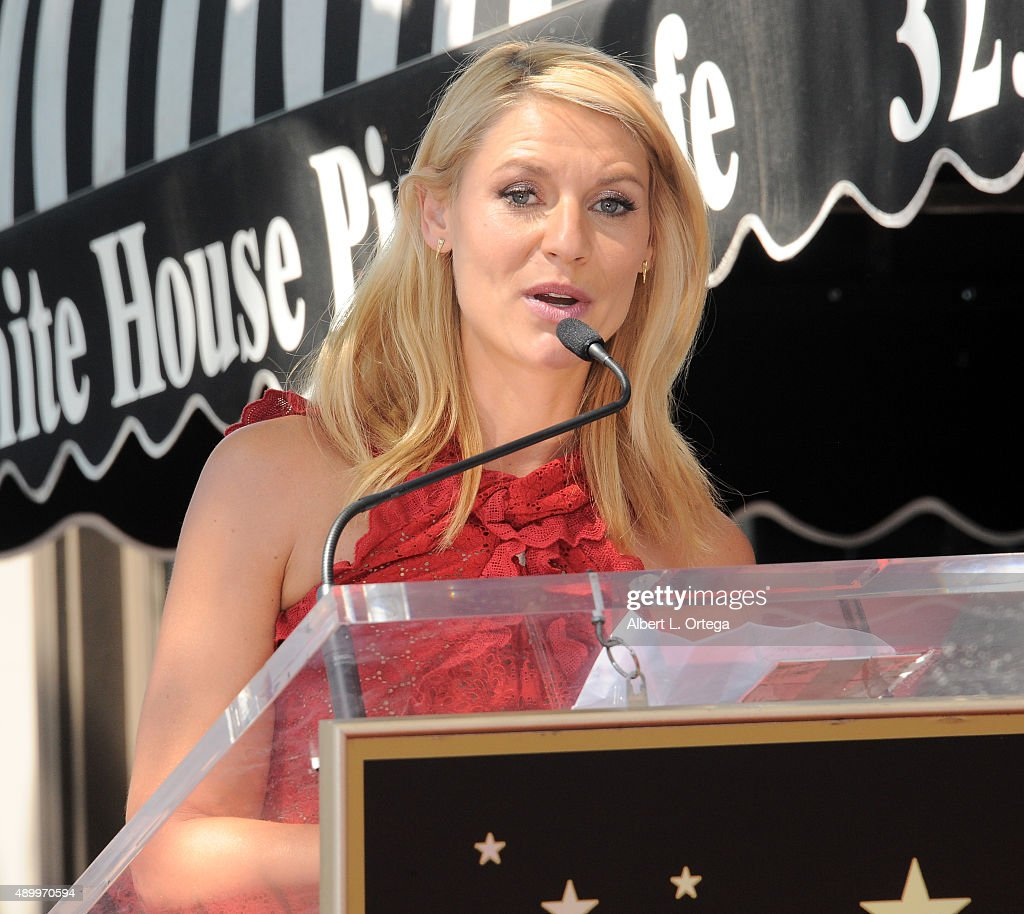 Actress Claire Danes is honored with a star on the Hollywood Walk of Fame on September 24 2015 in Hollywood California