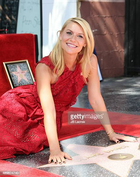 Actress Claire Danes is honored with star on the Hollywood Walk of Fame on September 24 2015 in Hollywood California