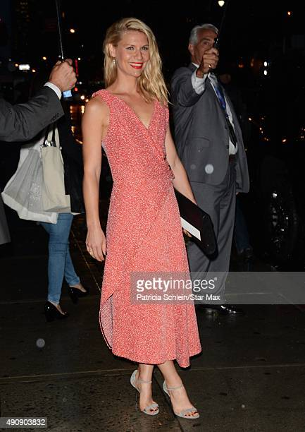 Actress Claire Danes is seen on October 1 2015 in New York City