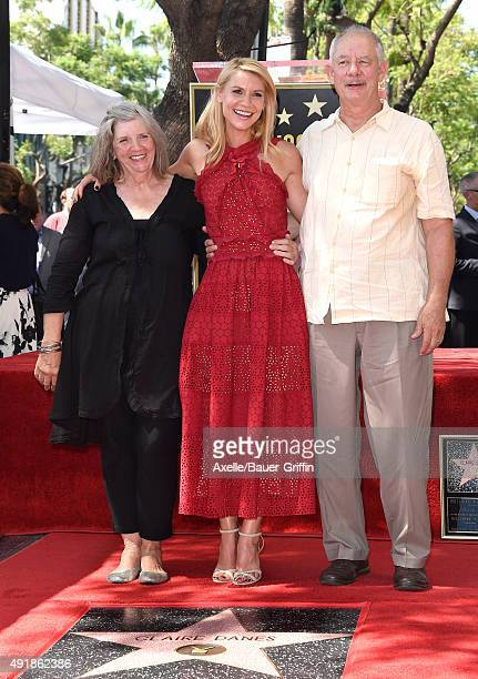 Actress Claire Danes mom Carla Danes and dad Christopher Danes attend the ceremony honoring Claire Danes with a star on the Hollywood Walk of Fame on...