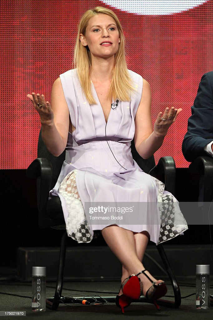 Actress Claire Danes of the TV show 'Homeland' attends the Television Critic Association's Summer Press Tour - CBS/CW/Showtime panels held at The Beverly Hilton Hotel on July 29, 2013 in Beverly Hills, California.