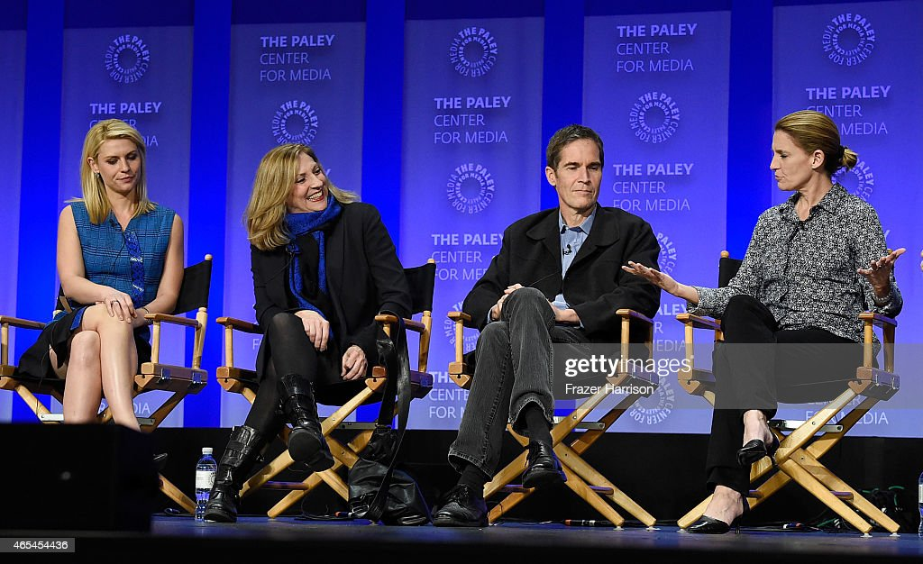 Actress Claire Danes Producers Lesli Linka Glatter Chip Johannessen Meredith Stiehm on stage at The Paley Center For Media's 32nd Annual PALEYFEST LA...
