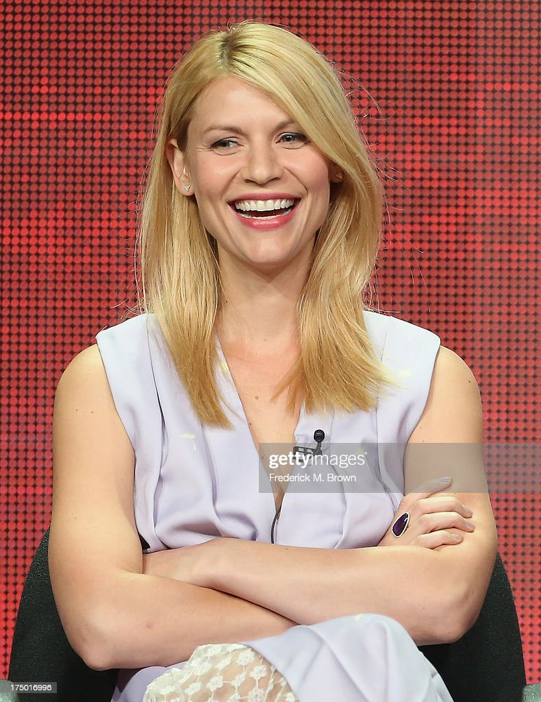 Actress <a gi-track='captionPersonalityLinkClicked' href=/galleries/search?phrase=Claire+Danes&family=editorial&specificpeople=202666 ng-click='$event.stopPropagation()'>Claire Danes</a> speaks onstage during the 'Homeland' panel discussion at the CBS, Showtime and The CW portion of the 2013 Summer Television Critics Association tour at the Beverly Hilton Hotel on July 29, 2013 in Beverly Hills, California.