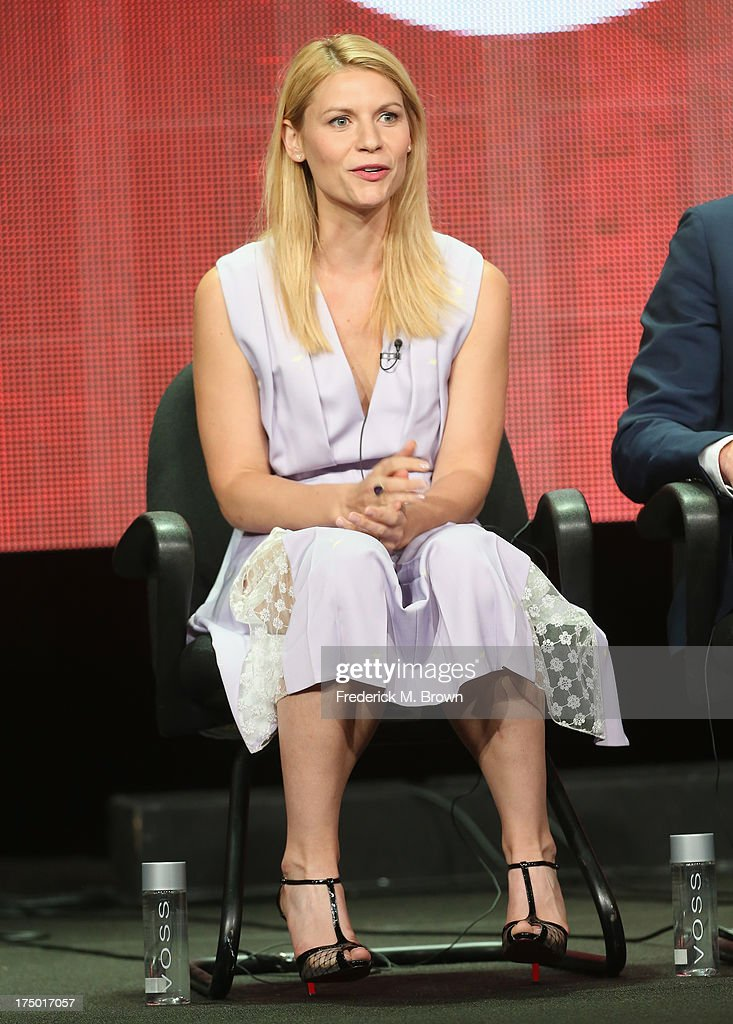 Actress Claire Danes speaks onstage during the 'Homeland' panel discussion at the CBS, Showtime and The CW portion of the 2013 Summer Television Critics Association tour at the Beverly Hilton Hotel on July 29, 2013 in Beverly Hills, California.
