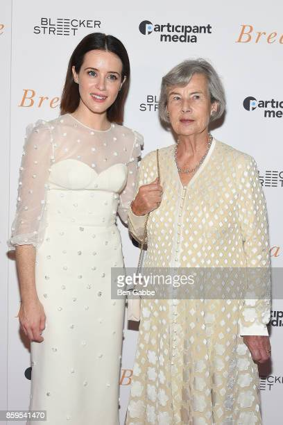 Actress Claire Foy and producer Diana Cavendish attend the 'Breathe' New York Special Screening at AMC Loews Lincoln Square 13 theater on October 9...