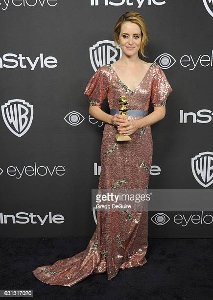 Actress Claire Foy arrives at the 18th Annual PostGolden Globes Party hosted by Warner Bros Pictures and InStyle at The Beverly Hilton Hotel on...
