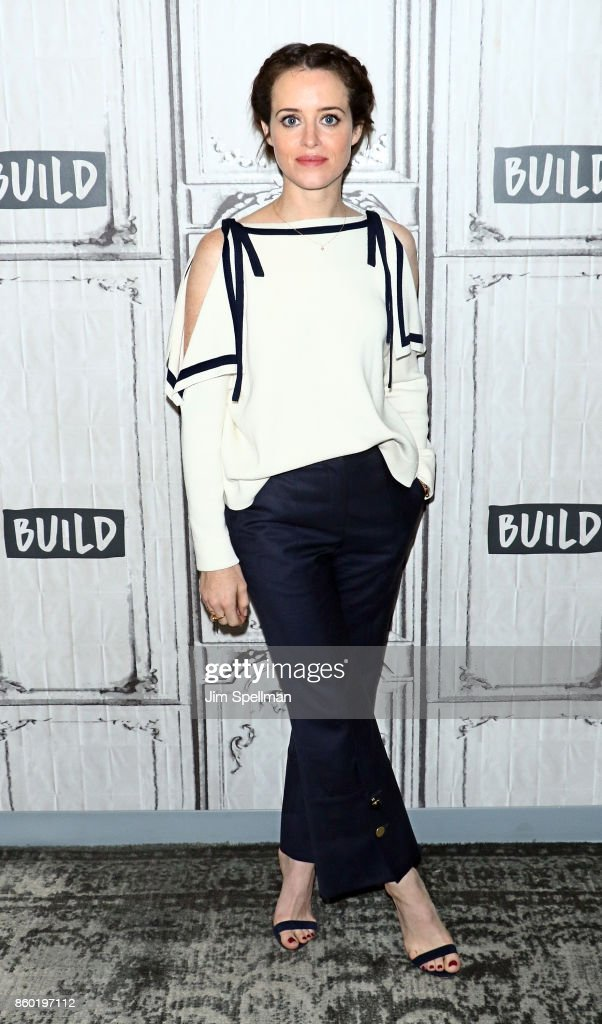 Actress Claire Foy attends Build to discuss 'Breathe'at Build Studio on October 11, 2017 in New York City.