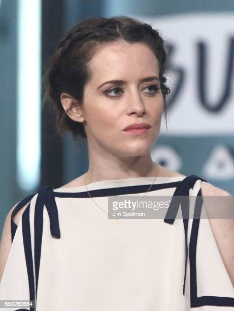 Actress Claire Foy attends Build to discuss 'Breathe'at Build Studio on October 11 2017 in New York City