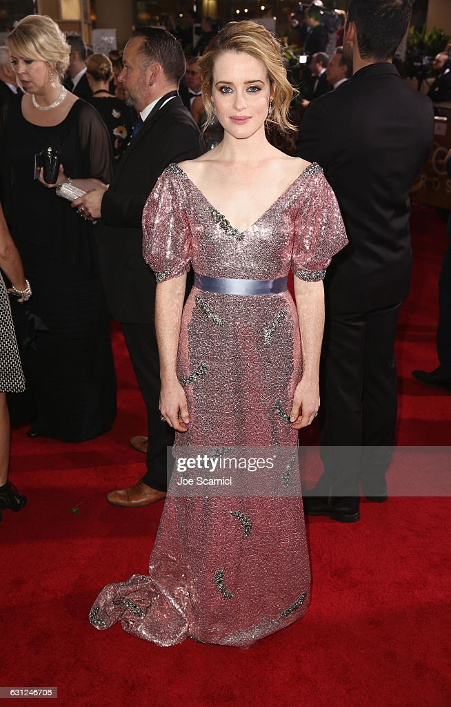 Actress Claire Foy attends the 74th Annual Golden Globe Awards at The Beverly Hilton Hotel on January 8, 2017 in Beverly Hills, California.