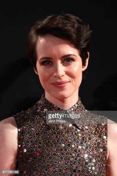 Actress Claire Foy attends the World Premiere of season 2 of Netflix 'The Crown' at Odeon Leicester Square on November 21 2017 in London England