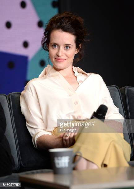 Actress Claire Foy speaks onstage at 'Breathe' press conference during 2017 Toronto International Film Festival at TIFF Bell Lightbox on September 12...
