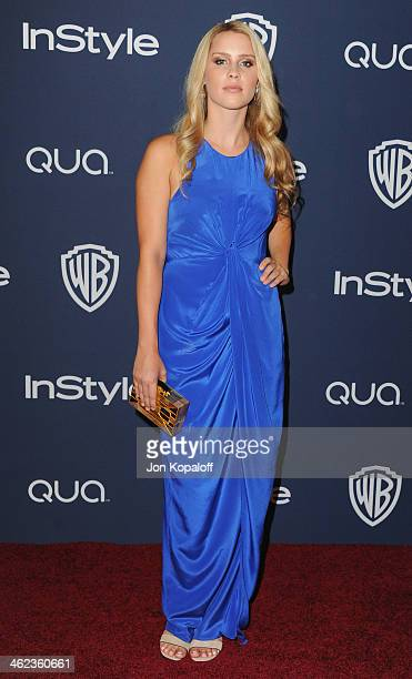 Actress Claire Holt arrives at the 2014 InStyle And Warner Bros 71st Annual Golden Globe Awards PostParty on January 12 2014 in Beverly Hills...
