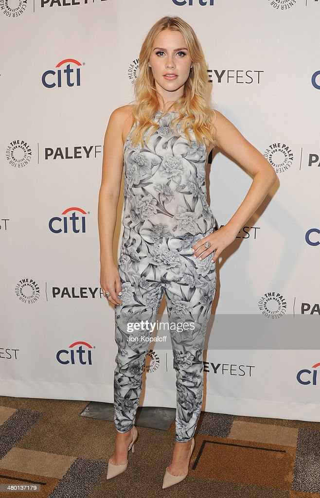 Actress <a gi-track='captionPersonalityLinkClicked' href=/galleries/search?phrase=Claire+Holt&family=editorial&specificpeople=5082295 ng-click='$event.stopPropagation()'>Claire Holt</a> arrives at the 2014 PaleyFest - 'The Vampire Diaries' & 'The Originals' on March 22, 2014 in Hollywood, California.
