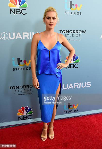Actress Claire Holt arrives at the Premiere of NBC's 'Aquarius' Season 2 at The Paley Center for Media on June 16 2016 in Beverly Hills California
