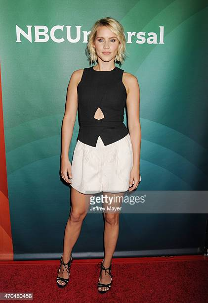 Actress Claire Holt attends the 2015 NBCUniversal Summer Press Day held at the The Langham Huntington Hotel and Spa on April 02 2015 in Pasadena...