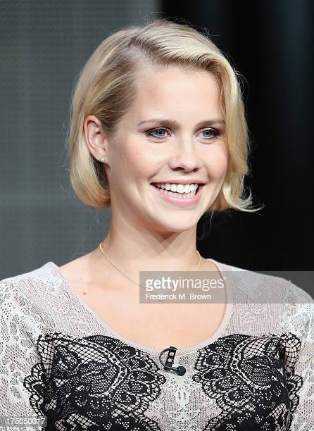 Actress Claire Holt speaks onstage during 'The Originals' panel discussion at the CBS Showtime and The CW portion of the 2013 Summer Television...