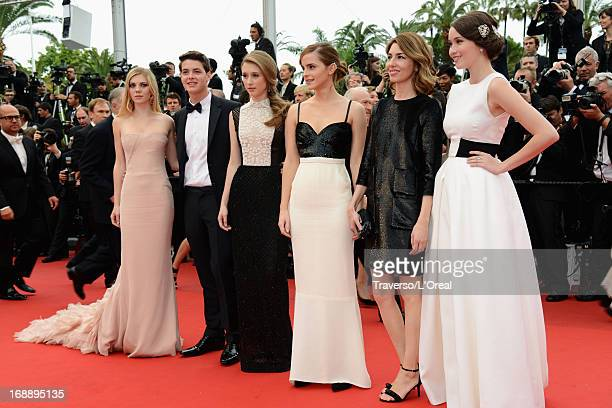 Actress Claire Julien actor Israel Broussard actresses Taissa Fariga and Emma Watson director Sophia Coppola and actress Katie Chang attend 'The...