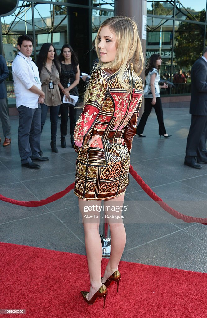 Actress Claire Julien arrives to the Los Angeles premiere of A24's 'The Bling Ring' at Directors Guild Of America on June 4 2013 in Los Angeles...