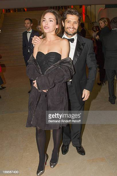 Actress Claire Keim and companion Bixente Lizarazu attend the GQ Men of the year awards 2012 at Musee d'Orsay on January 16 2013 in Paris France