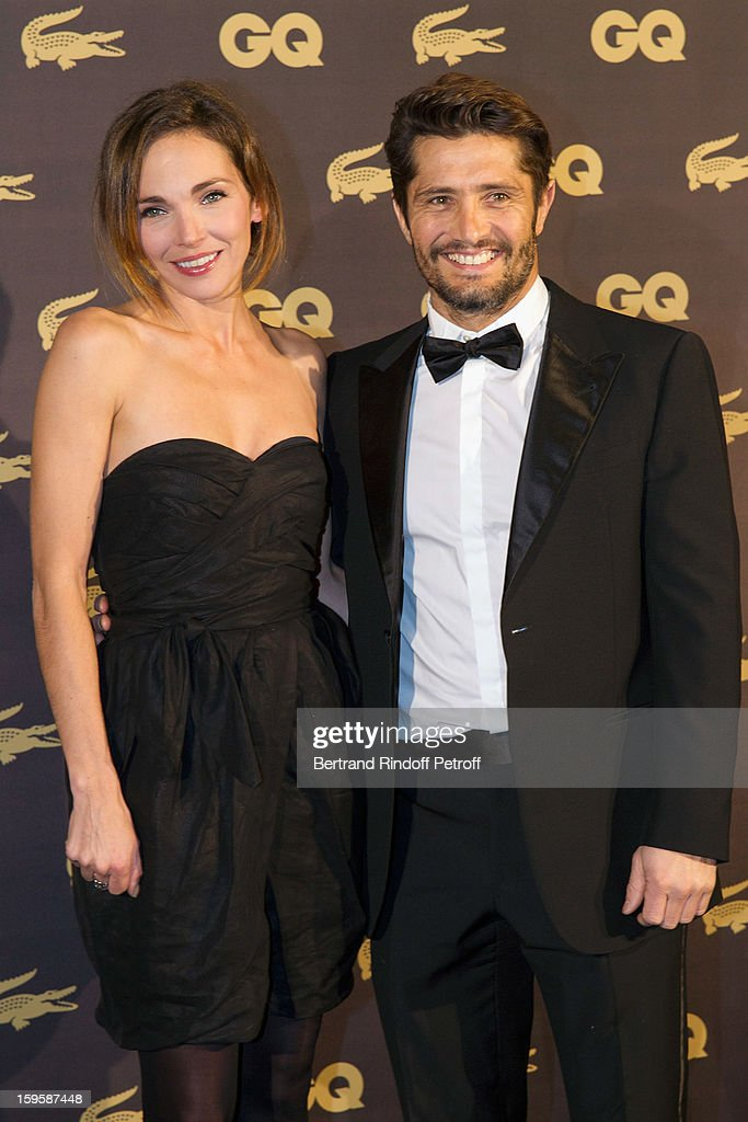 Actress Claire Keim (L) and companion Bixente Lizarazu attend the GQ Men of the year awards 2012 at Musee d'Orsay on January 16, 2013 in Paris, France.