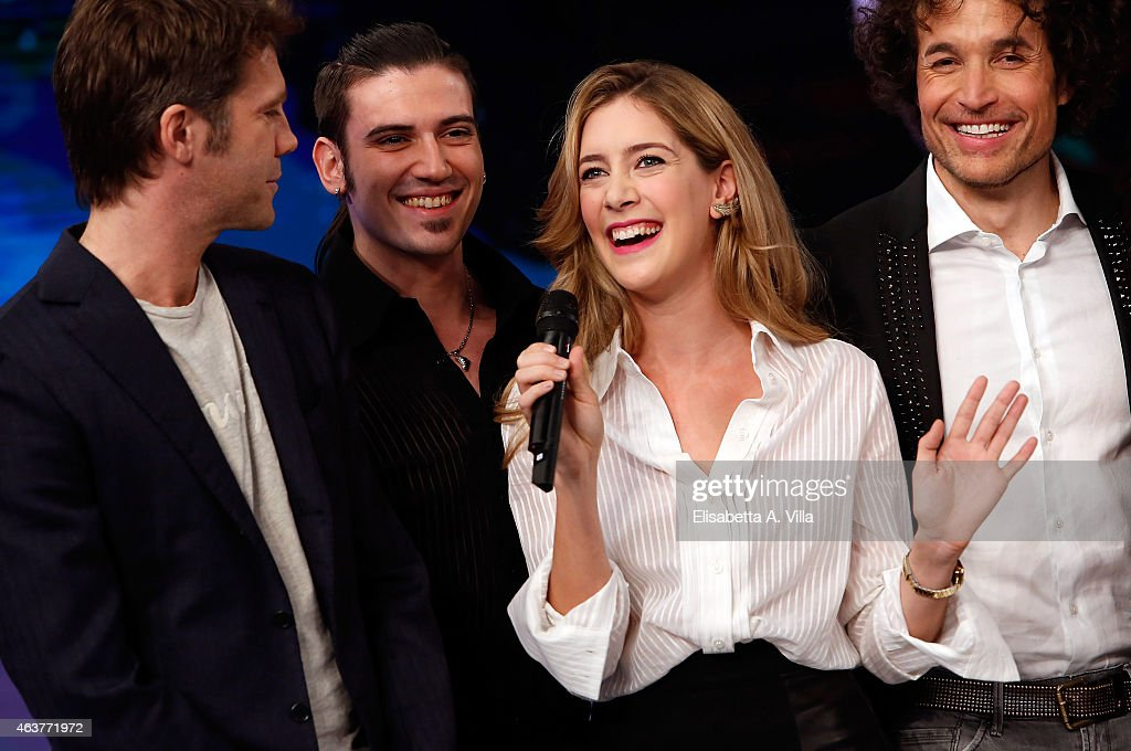 Actress Clara Alonso attends 'Notti Sul Ghiaccio' TV Show press conference at RAI Studios on February 18 2015 in Rome Italy
