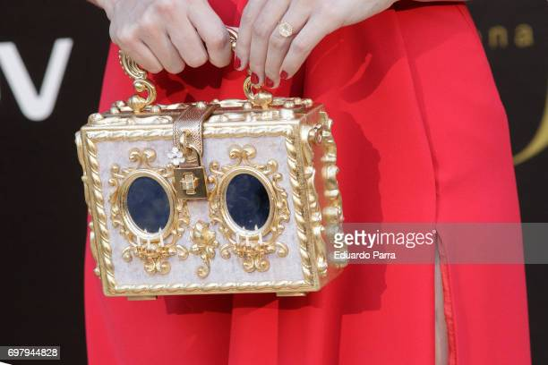 Actress Clara Alonso handbag detail attends the 'Yo Donna International Awards' photocall at Duques de Pastrana palace on June 19 2017 in Madrid Spain