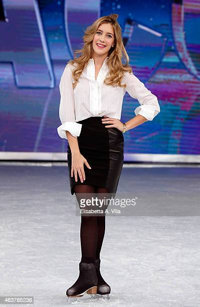 Actress Clara Alonso poses during the 'Notti Sul Ghiaccio' TV Show photocall at RAI Studios on February 18 2015 in Rome Italy