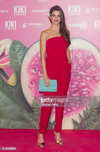 Actress Clara Lago attends 'Kiki el amor se hace' premiere at Capitol cinema on March 30 2016 in Madrid Spain