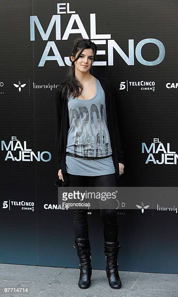 Actress Clara Lago attends the 'El Mal Ajeno' photocall at Princesa Cinema on March 15 2010 in Madrid Spain