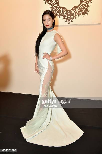 Actress Clara Lee attends the Lanyu collection Front Row during New York Fashion Week The Shows at Gallery 1 Skylight Clarkson Sq on February 10 2017...