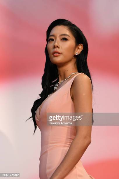 Actress Clara Lee attends the red carpet of the 30th Tokyo International Film Festival at Roppongi Hills on October 25 2017 in Tokyo Japan