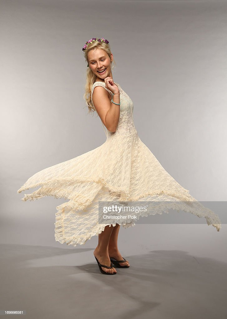 Actress Clare Bowen poses at the Wonderwall portrait studio during the 2013 CMT Music Awards at Bridgestone Arena on June 5 2013 in Nashville...