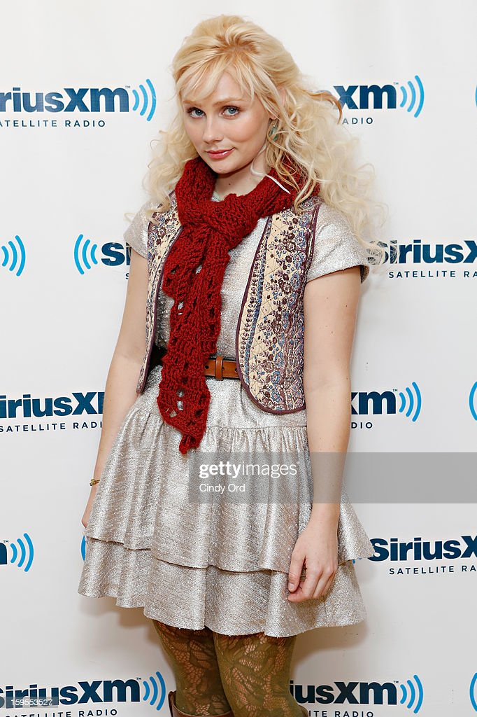 Actress Clare Bowen visits the SiriusXM Studios on January 15, 2013 in New York City.