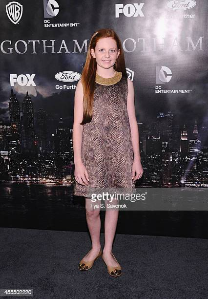 Actress Clare Foley attends the 'Gotham' series premiere at The New York Public Library on September 15 2014 in New York City
