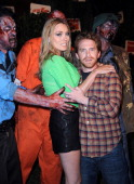 Actress Clare Grant and actor Seth Green arrive for 'The Walking Dead' 10th Anniversary Celebration Event Presented by Hyundai and Skybound on Day 2...