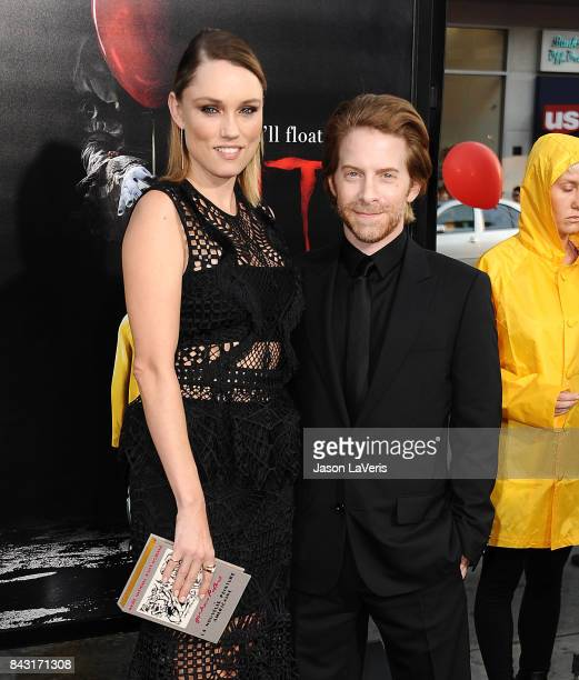 Actress Clare Grant and actor Seth Green attend the premiere of 'It' at TCL Chinese Theatre on September 5 2017 in Hollywood California